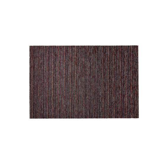 Skinny Stripe Shag Mat in Mulberry