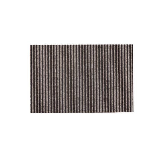Breton Stripe Shag Mat in Gravel