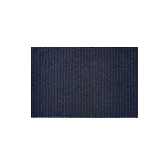 Breton Stripe Shag Mat in Blueberry