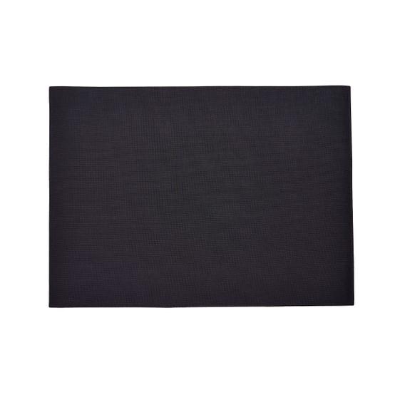 Mini Basketweave Floor Mat in Black