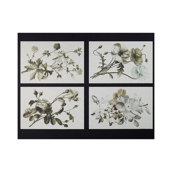 Sepia Plants & Flowers Placemat, Set of 4