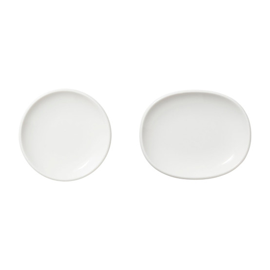 Set of 2 Raami Small Plates in White