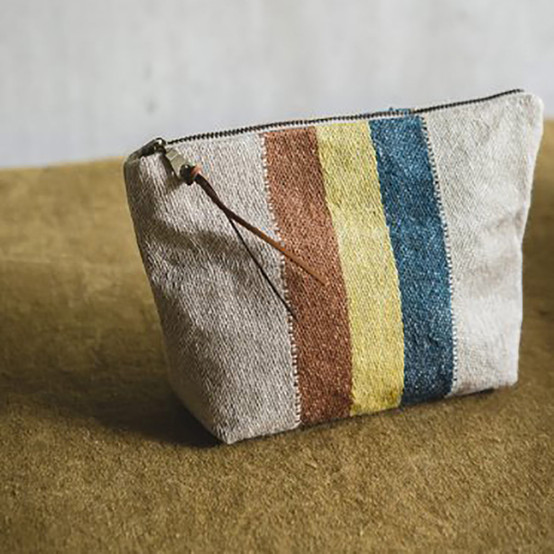 Belgian Pouch in Mercurio Stripe