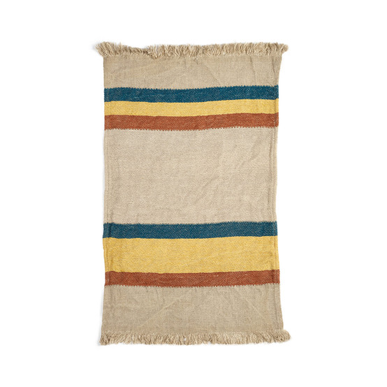 Belgian Towel Small fouta in Mercurio Stripe