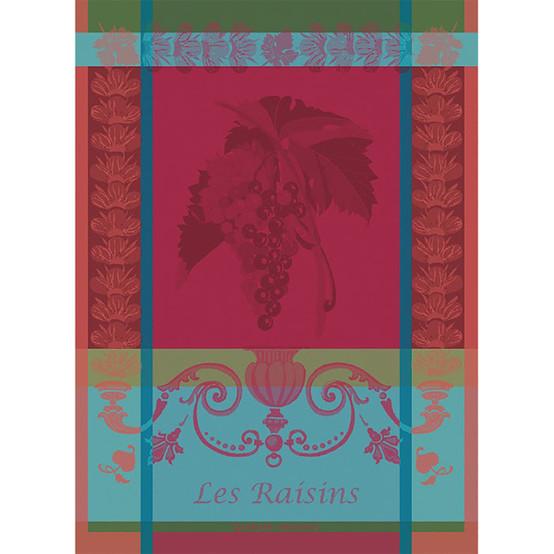 Les Raisins Lie De Vin Kitchen Towel 22 X 30