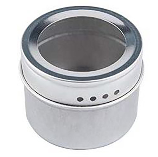 Round Spice Jar with Magnetic Base in Clear