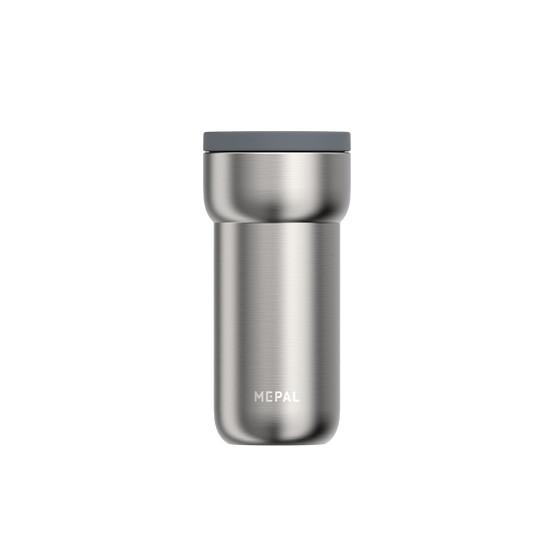 Medium Ellipse Travel Mug in Brushed Stainless Steel