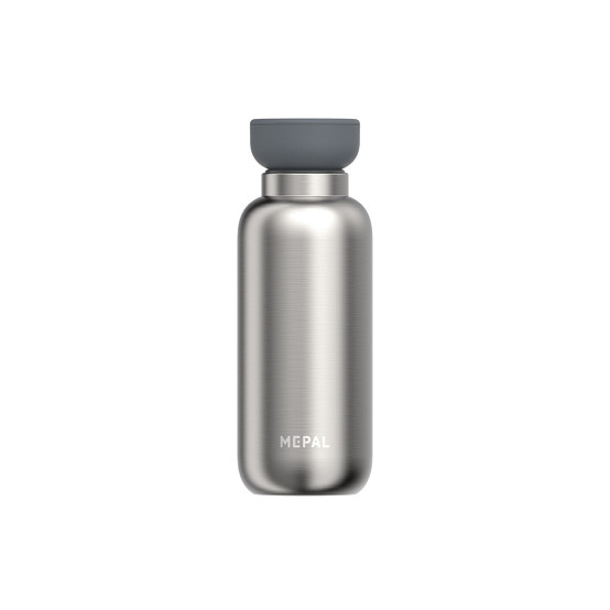 Small Ellispe Insulated Water Bottle in Brushed Stainless Steel