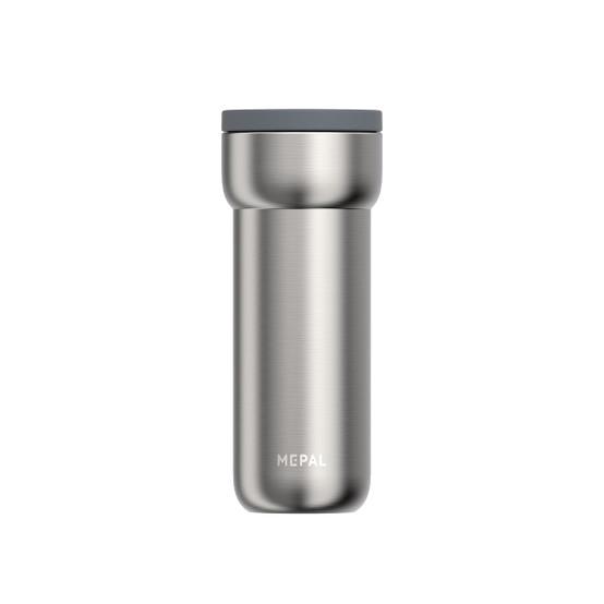 Large Ellipse Travel Mug in Brushed Stainless Steel