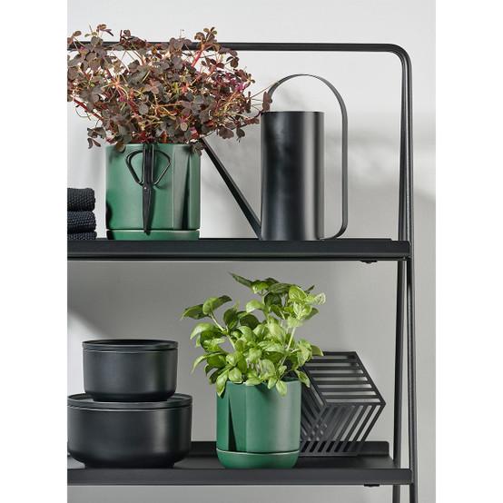 Self-Watering Herb Pot in Jungle Green
