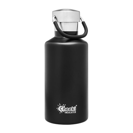 Stainless Steel Insulated Classic Bottle in Black