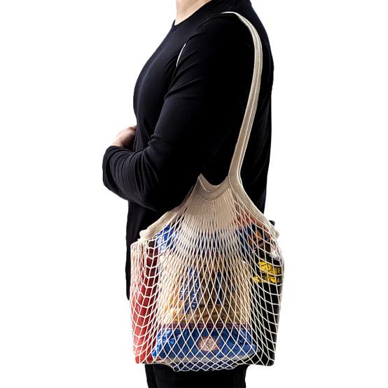 Mesh Shopping Bag in Natural