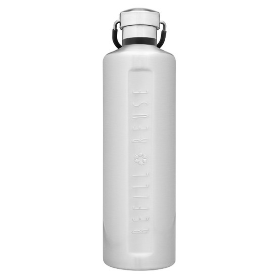 Stainless Steel Insulated Classic Bottle in Silver