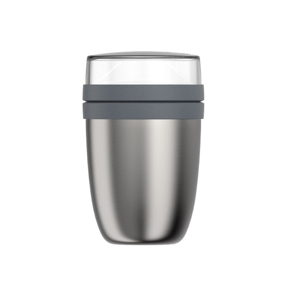 Ellipse Insulated Lunchpot in Brushed Stainless Steel