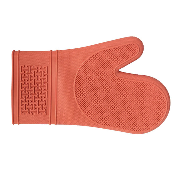 Silicone Oven Mitt in Coral