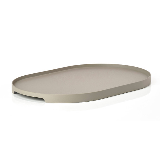 Singles Oval Tray in Mud