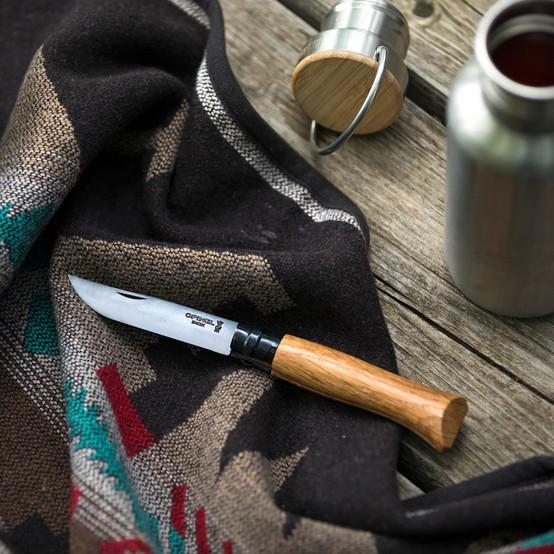 No.08 Black Oak Folding Knife