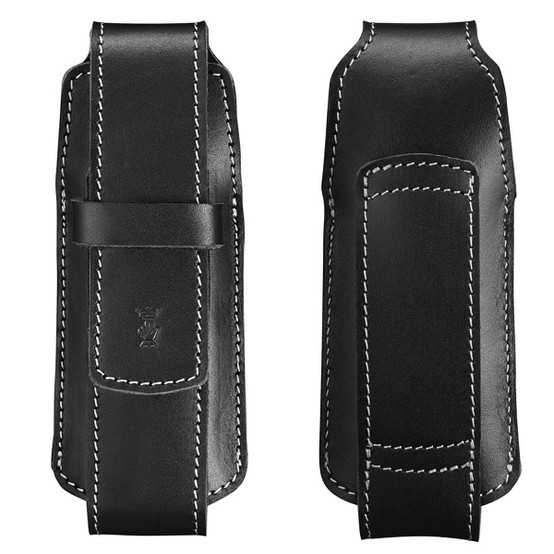 Chic Natural Leather Sheath in Black