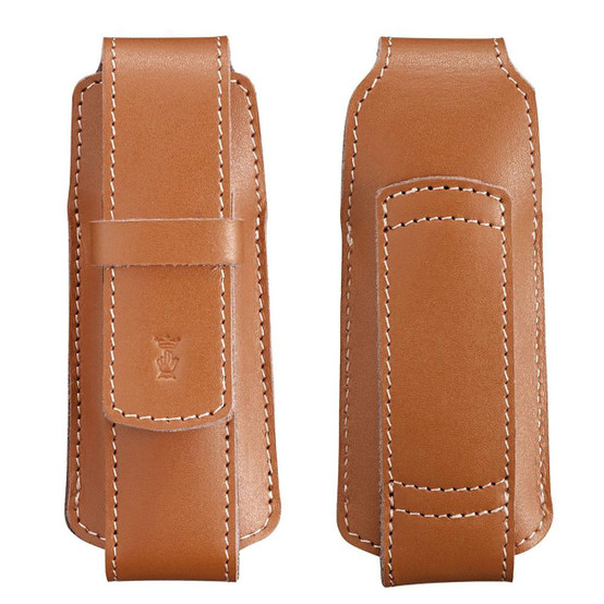 Chic Leather Sheath in Light Brown