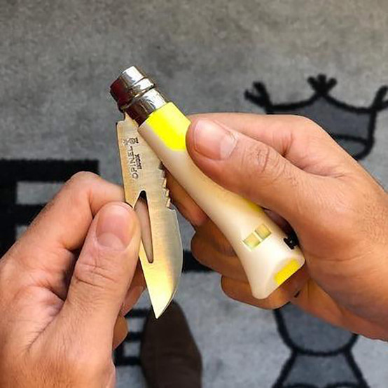 N°8 Outdoor Pocket Knife in Lemon