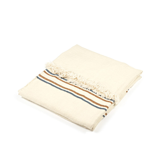 Striped Auburn Coverlet
