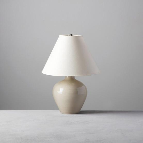 Medium Belmont Lamp in White