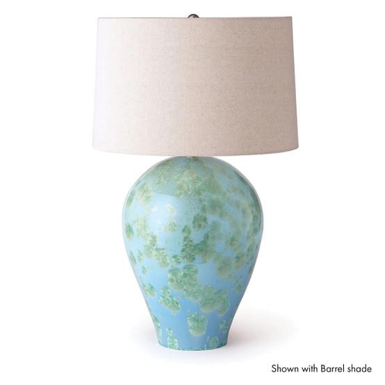 Crystalline Woodstock Lamp in Jade