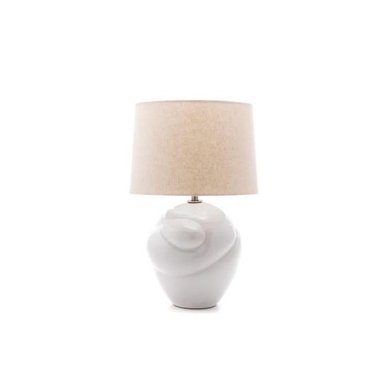 Wrap Pottery Lamp in Dove