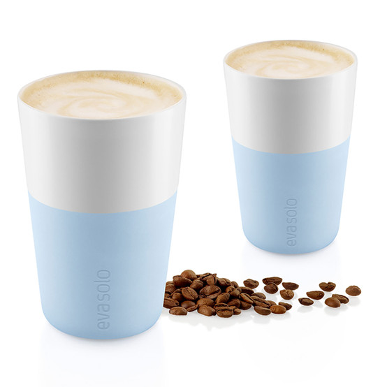 Cafe Latte Tumblers In Soft Blue