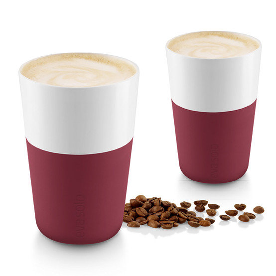 Cafe Latte Tumblers In Pomegranate