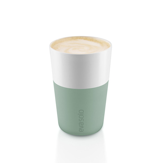 Cafe Latte Tumblers In Faded Green