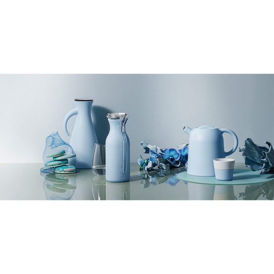 Fridge Carafe With Cover In Woven Soft Blue