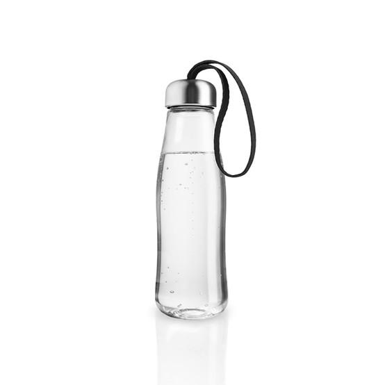 Glass Drinking Bottle In Black
