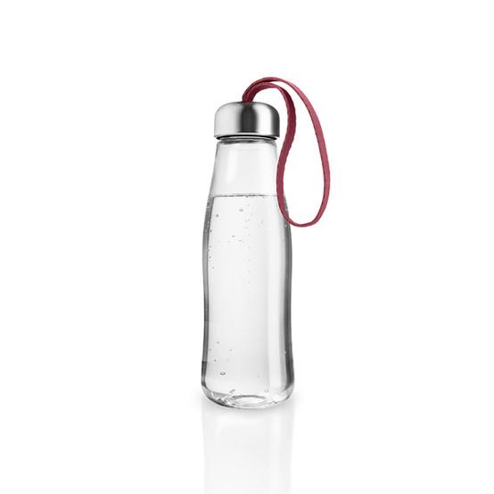 Glass Drinking Bottle In Pomegranate