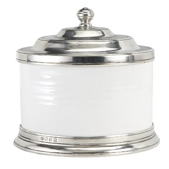 Convivio Cookie Jar in White