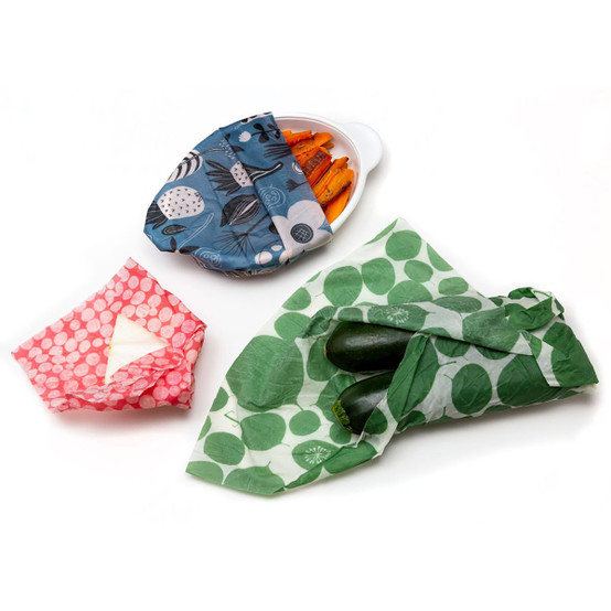 3 Pack of Dots, Petals & Pods, and Leafy Green Food Wraps