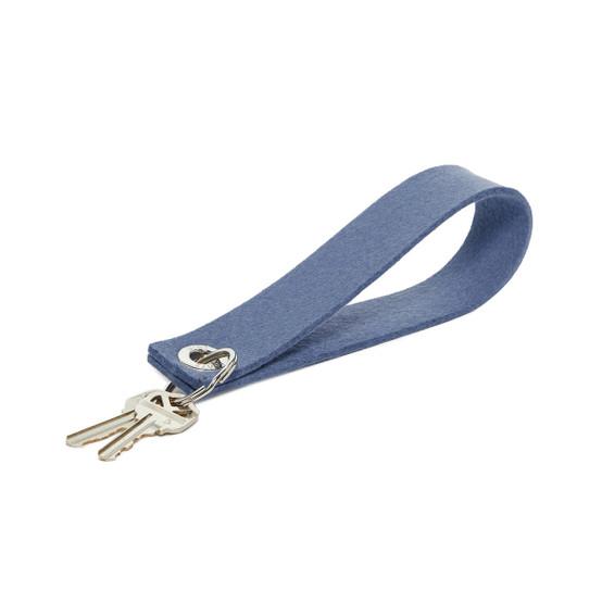 Felt Key Loop in Horizon Blue