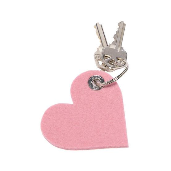Heart Key Fob in Rock Salt
