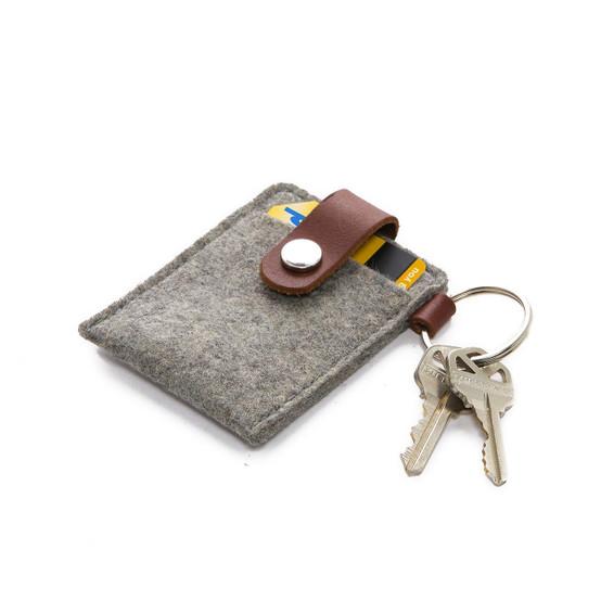 Key Card Case in Granite Felt