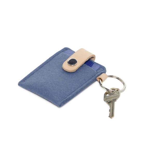 Key Card Case in Horizon Blue Felt