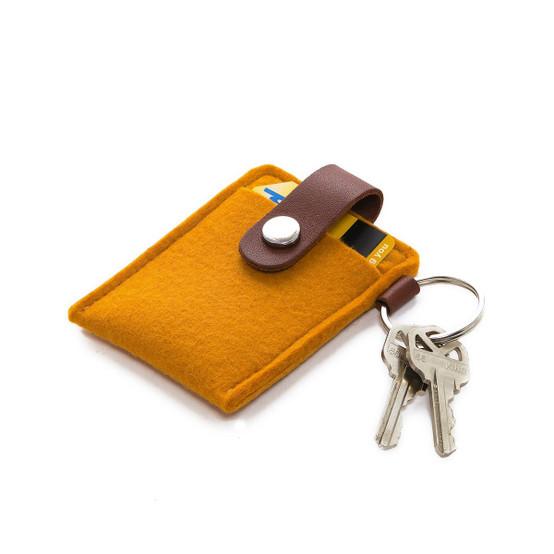 Key Card Case in Turmeric Felt
