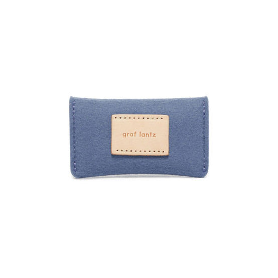 Card Wallet in Horizon Blue Felt