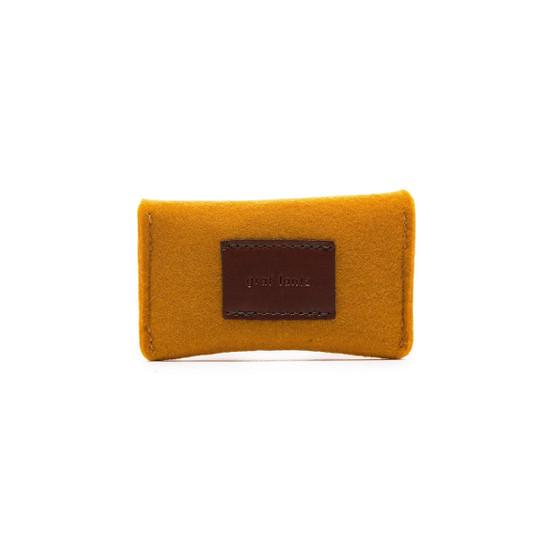 Card Wallet in Turmeric Felt