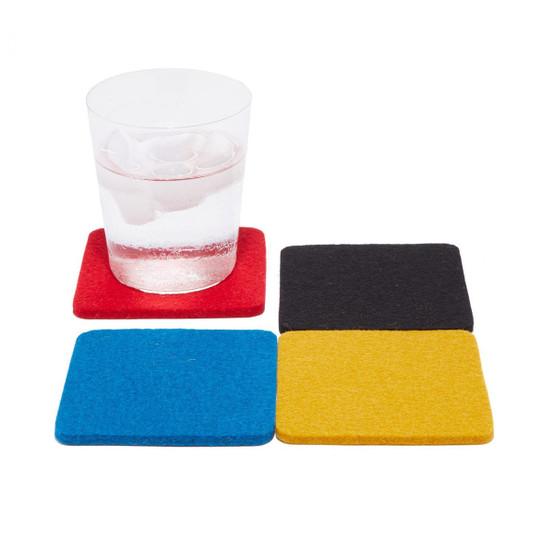 Square Coaster 4 Pack, Bauhaus