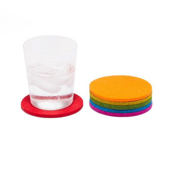 Round Coaster 6 Pack, Rainbow