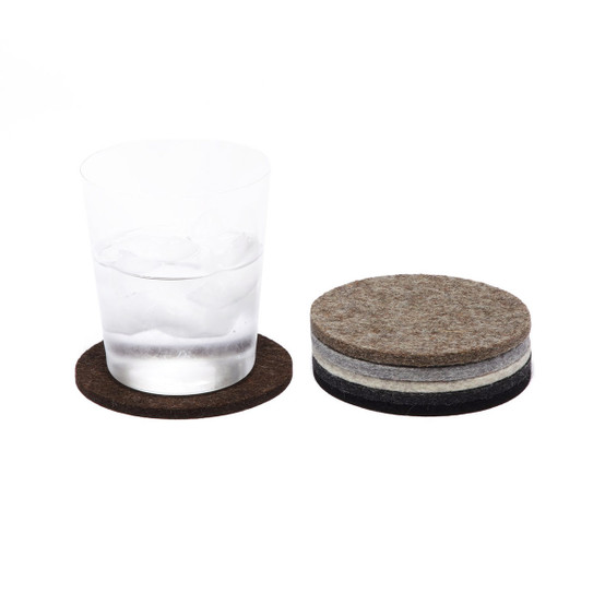 Round Coaster 6 Pack, Earth