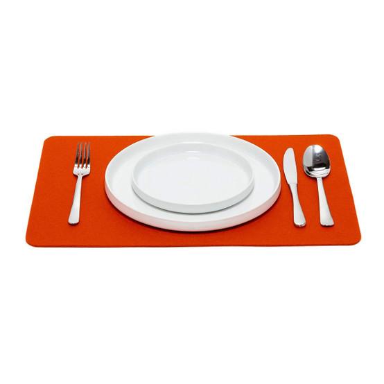 Rectangular Placemat in Orange Felt