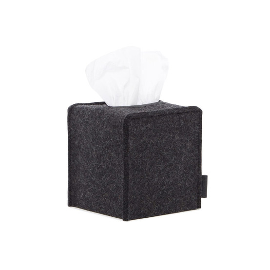 Small Tissue Box Cover in Charcoal