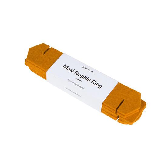 Maki Napkin Ring Set in Turmeric