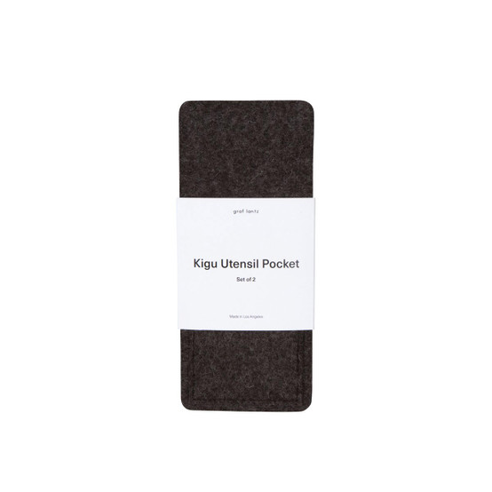 Kigu Utensil Pocket in Charcoal, 2 Pack